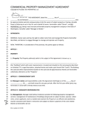Commercial Property Management Agreement page 1 preview