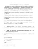 ADDENDUM TO PURCHASE AND SALE AGREEMENT page 1 preview