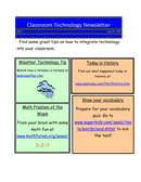 Classroom Technology Newsletter Template page 1 preview
