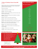 Holiday newsletter template page 2 preview