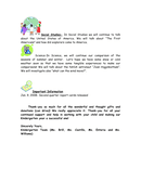 Kindergarten Newsletter Sample page 2 preview