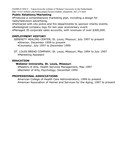 SAMPLE FUNCTIONAL RESUME (American Style) page 2 preview