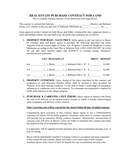 REAL ESTATE PURCHASE CONTRACT page 1 preview