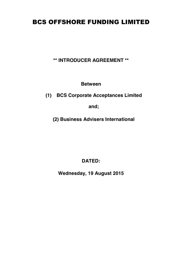 Agency Agreement preview