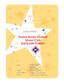 Party invitation flyer page 1 preview