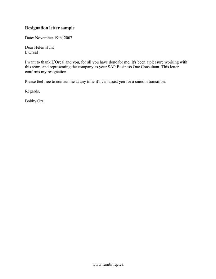 Resignation Letter Sample Word from static.dexform.com