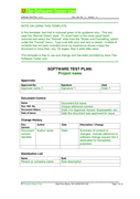 Software Test Plan Template page 1 preview