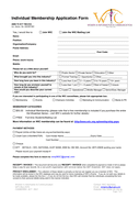Individual Membership Application Form Template page 1 preview