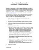 Departmental Policies and Procedures Manual Template page 1 preview
