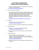 Departmental Policies and Procedures Manual Template page 2 preview