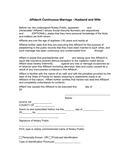 Florida Affidavit of Continuous Marriage page 1 preview
