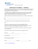 Limited Power of Attorney Template page 2 preview