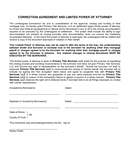 CORRECTION AGREEMENT AND LIMITED POWER OF ATTORNEY page 1 preview