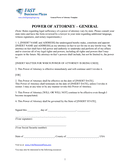 General Power of Attorney Template page 2 preview