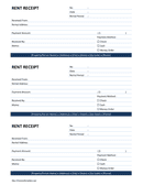 Rent Receipt Word Template page 1 preview