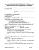HOME CONTRACT AMENDMENT REQUEST FORM page 1 preview