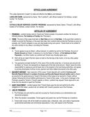 Office Lease contract page 1 preview