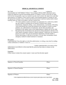 MEDICAL AND DENTAL CONSENT page 1 preview