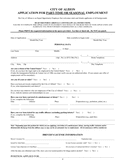 City of Albion Job Application Form page 1 preview