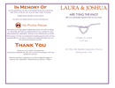 Free Wedding Program Template page 1 preview
