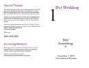 Wedding Program Template page 1 preview