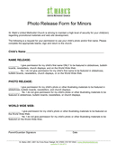 Photo Release Form page 1 preview