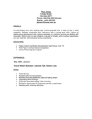 SAMPLE RESUME page 1 preview