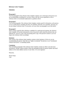 Reference Letter Template page 1 preview