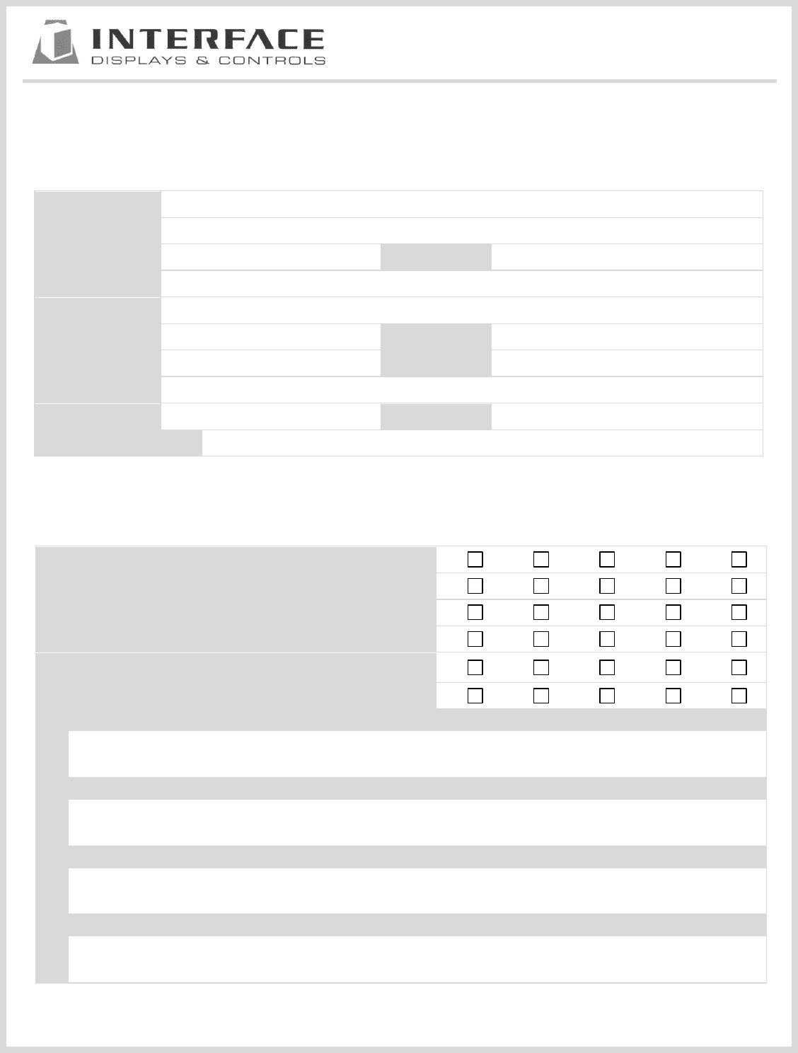 standard questionnaire on customer satisfaction pdf
