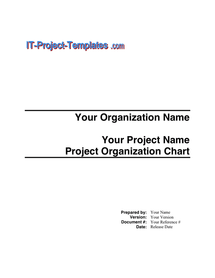 Project Organization Chart - download free documents for ...