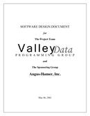 Software Design Document Template page 1 preview