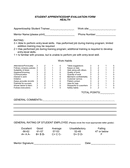 STUDENT APPRENTICESHIP EVALUATION FORM page 1 preview