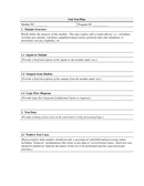 Unit Test Plan Template page 1 preview