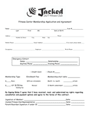 Fitness Center Membership Application and Agreement page 1 preview