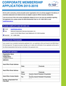 CORPORATE MEMBERSHIP APPLICATION page 1 preview