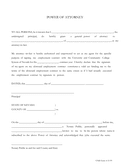 POWER OF ATTORNEY Form page 1 preview