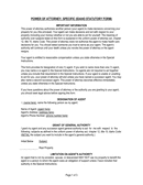 IDAHO STATUTORY FORM POWER OF ATTORNEY page 1 preview