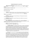 California Residential Lease Agreement page 1 preview