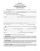 Florida Residential Lease Agreement page 1 preview