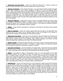 Florida Residential Lease Agreement page 2 preview