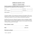 Medical consent form page 1 preview