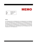 Memo Template page 1 preview