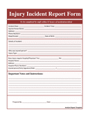 Incident Report Template page 1 preview