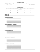 Resume Templates page 1 preview