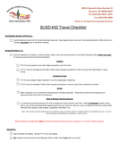 Sample Travel Checklist page 1 preview
