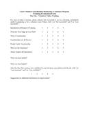 Sample Training Evaluation Form page 1 preview