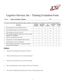 Training Evaluation Form page 1 preview