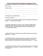 Project Proposal Presentation Evaluation Form page 1