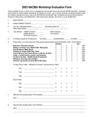 Workshop Evaluation Form page 1 preview
