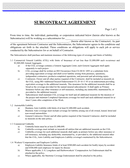 Annual Subcontractor Agreement page 1 preview